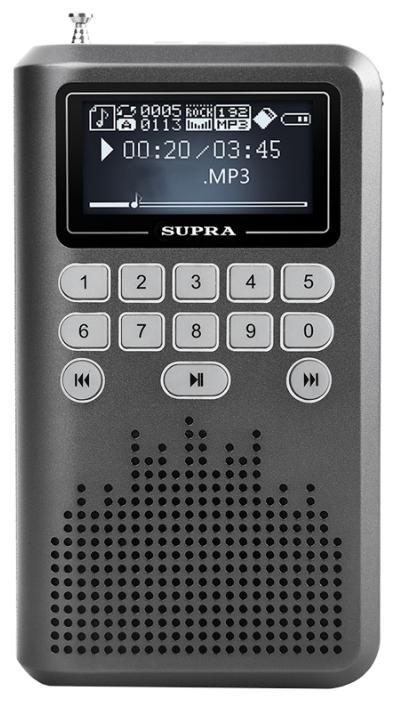 Портативная акустика SUPRA PAS-3907, серый