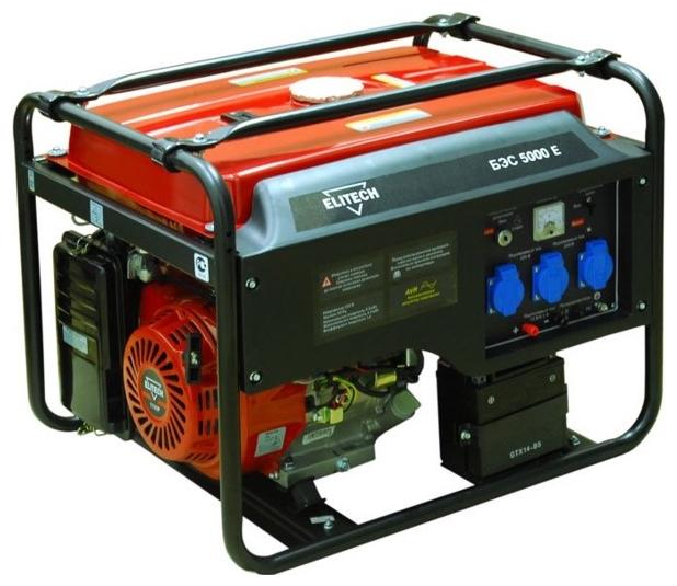 Генератор бензиновый ELITECH БЭС 5000 Е 2,08л/ч 25л