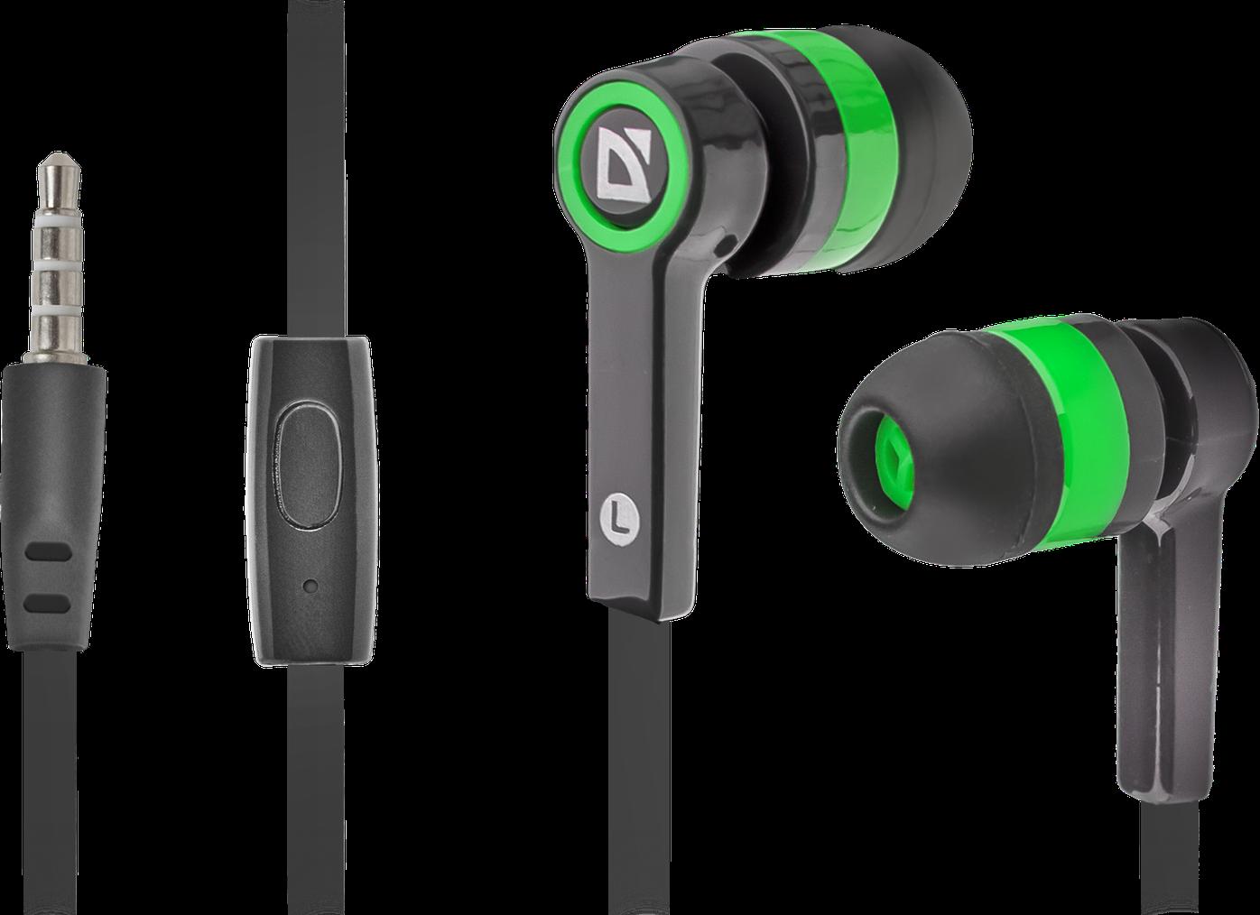 Наушники для ПК Defender Pulse-420, черный/зеленый