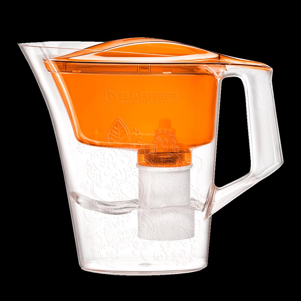 Кувшин Барьер Танго оранжевый с узором