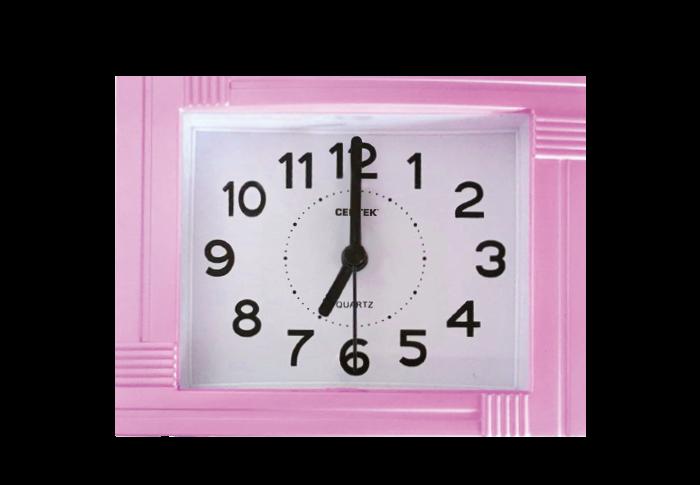 Будильник CENTEK СТ-7201, розовый