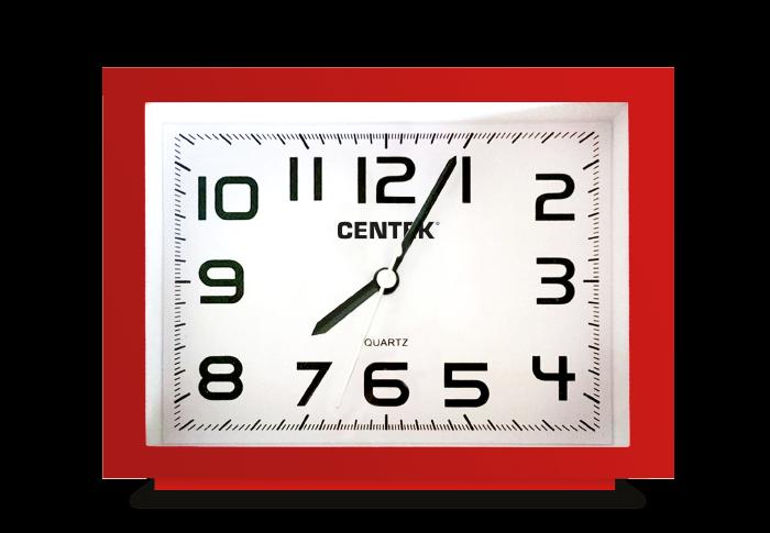 Будильник CENTEK СТ-7202, красный
