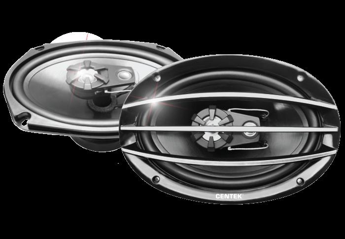 Колонки автомобильные CENTEK СТ-8201-69, серый