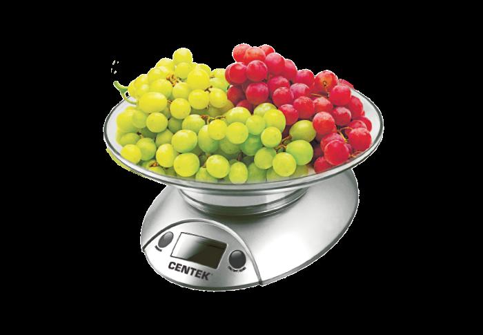 Кухонные весы CENTEK CT-2451, серебро/черный