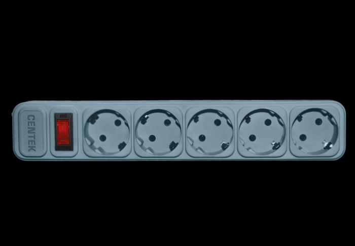 Сетевой фильтр CENTEK СТ-8900-5-1,8, серый