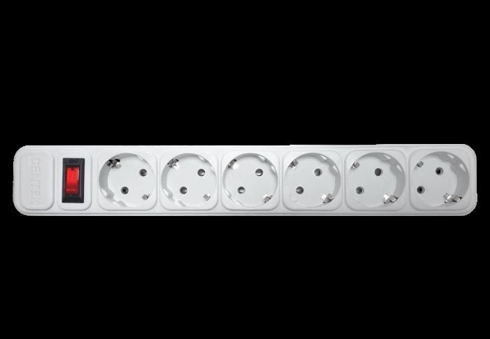 Сетевой фильтр CENTEK СТ-8901-6-1,8, белый