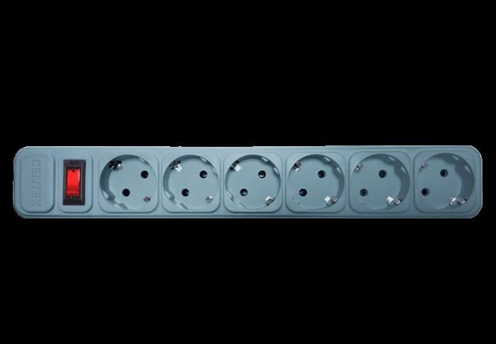 Сетевой фильтр CENTEK СТ-8901-6-3,0, серый