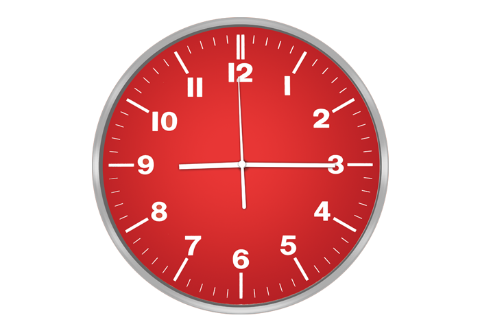 Часы настенные CENTEK СТ-7100, красный