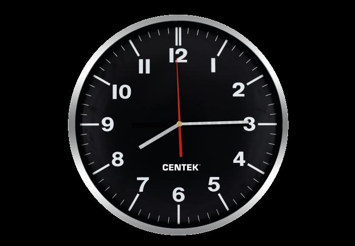 Часы настенные CENTEK СТ-7100, черный