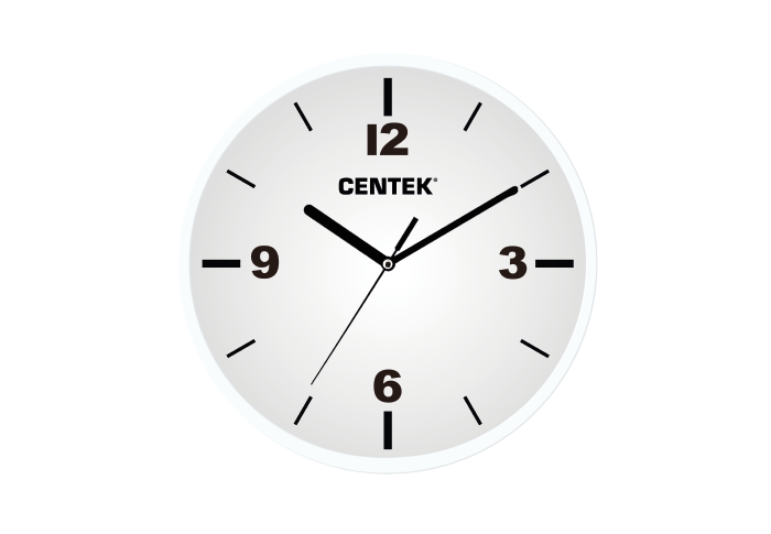 Часы настенные CENTEK СТ-7102, белый