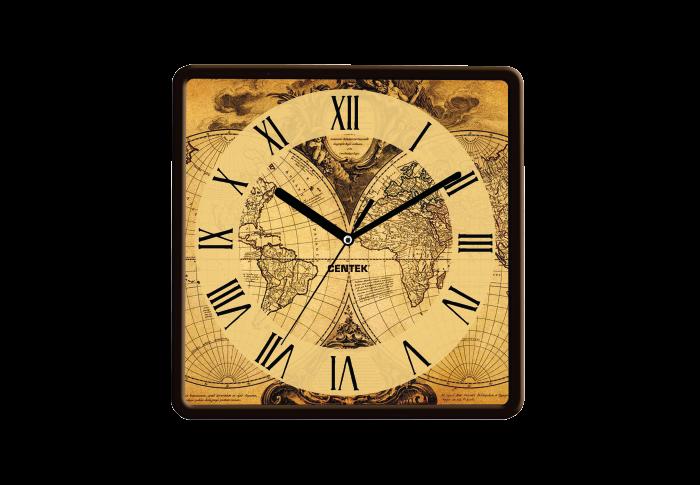 Часы настенные CENTEK СТ-7103, карта