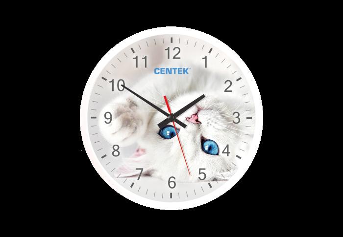 Часы настенные CENTEK СТ-7104, кот