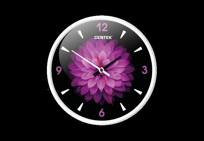 Часы настенные CENTEK СТ-7104, цветок