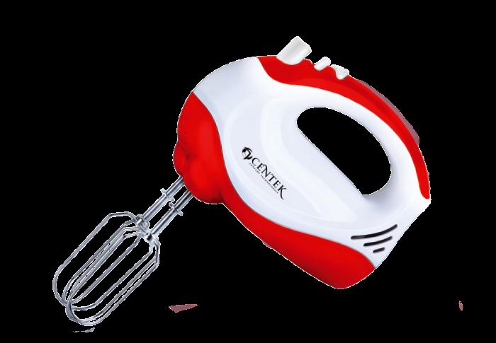 Миксер CENTEK CT-1110, белый/красный