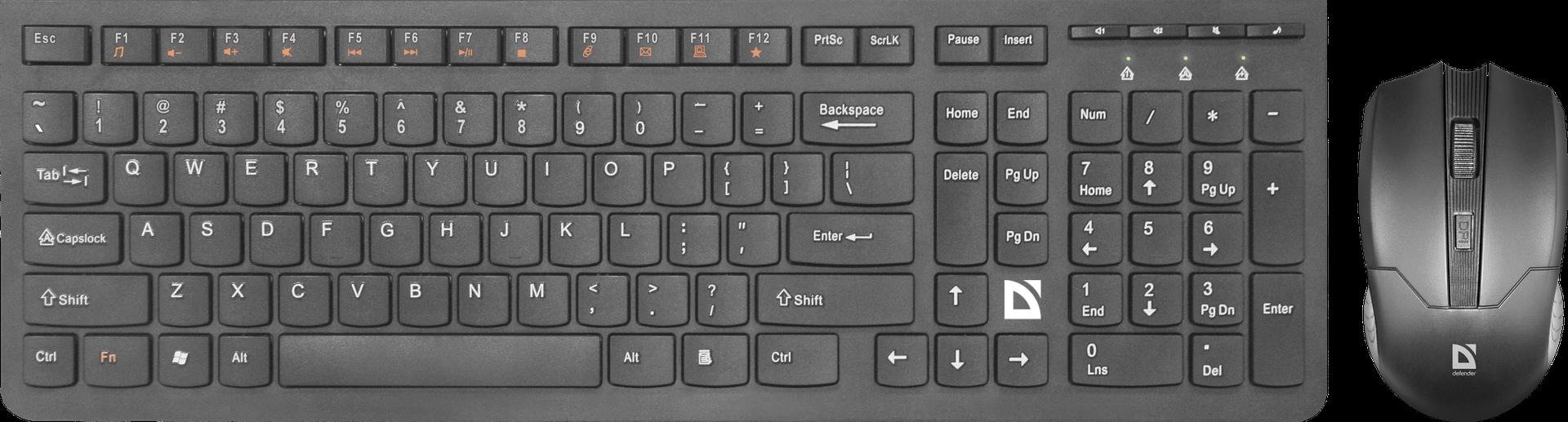 Беспроводной набор (клавиатура + мышь) DEFENDER Columbia C-775 RU