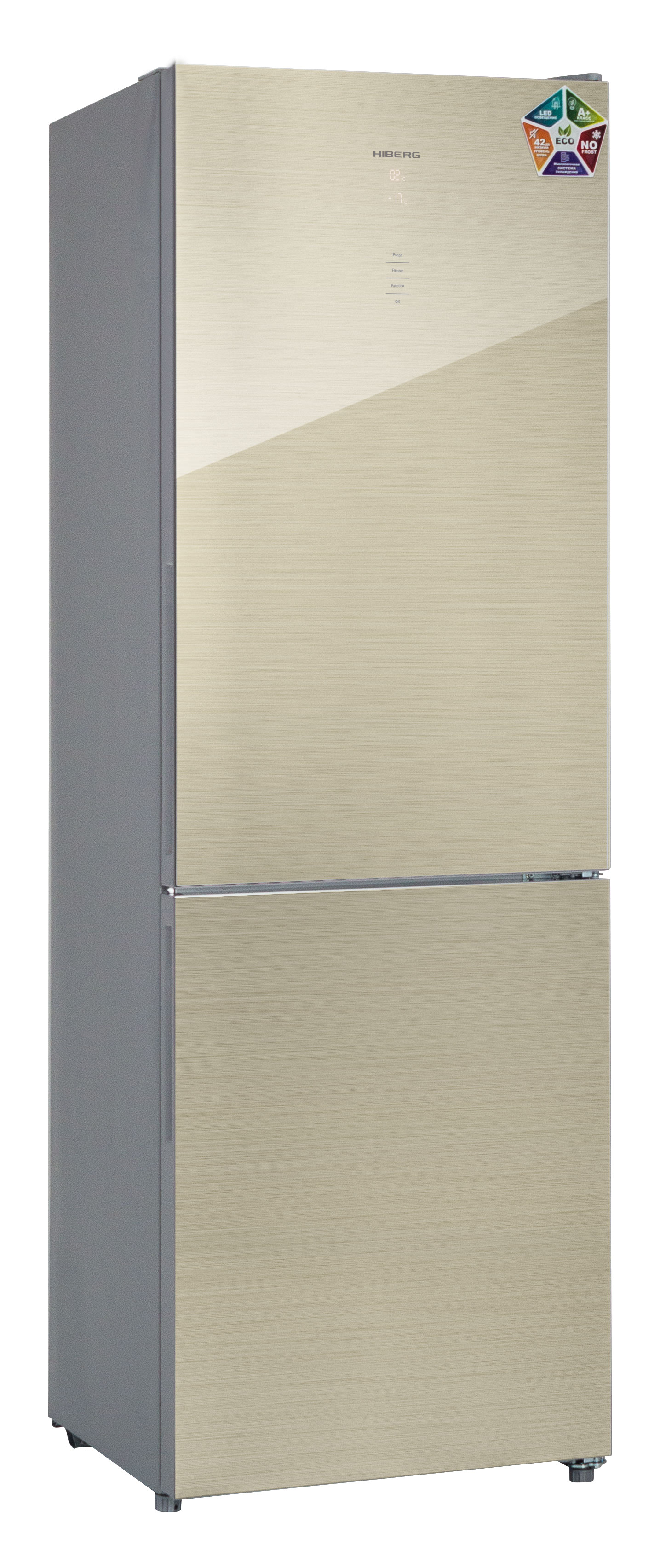Холодильник HIBERG RFC-311DX NFGJ, шампань line