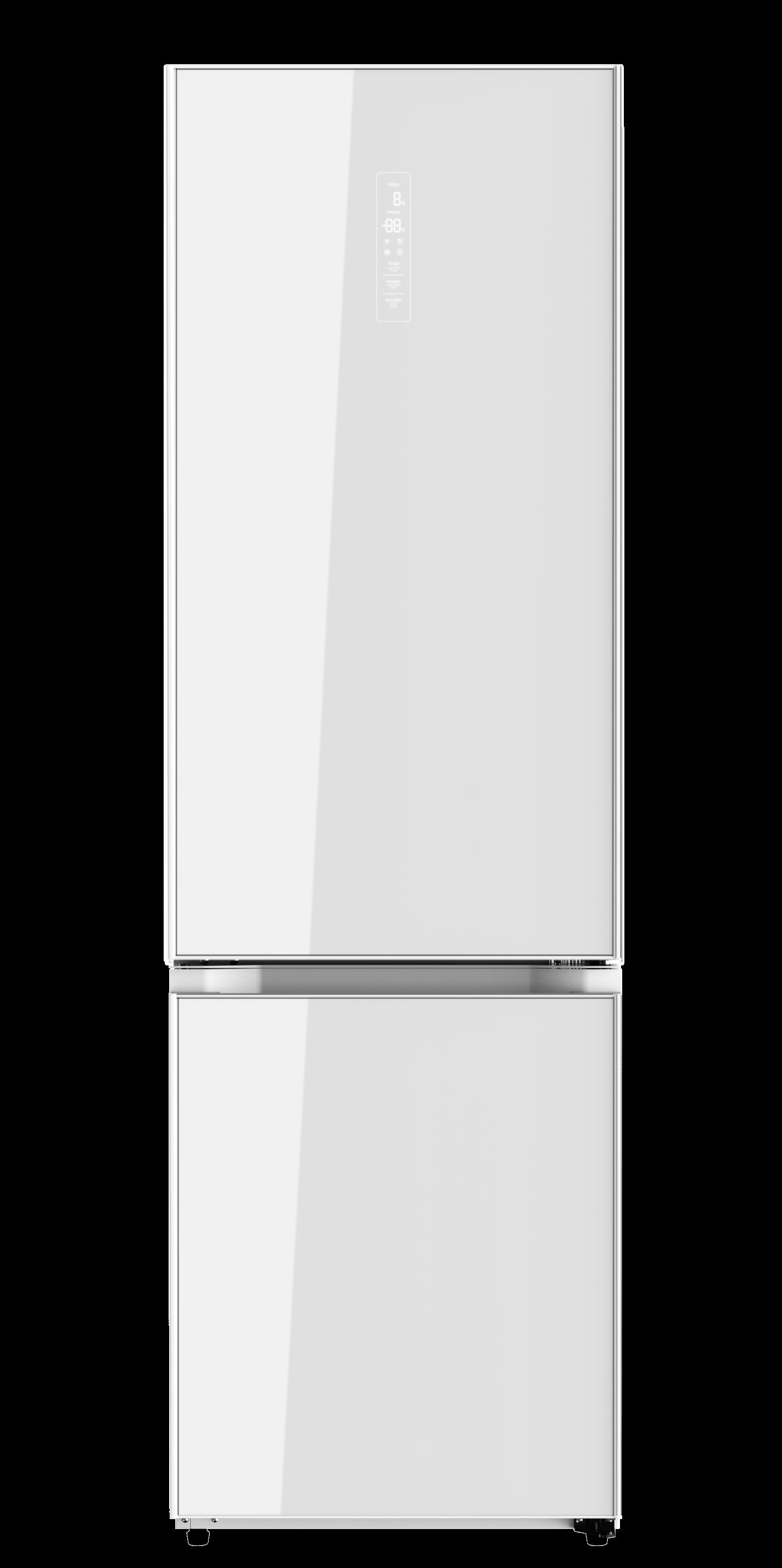 Холодильник HIBERG RFC-392D NFGW, белое стекло