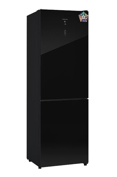 Холодильник HIBERG RFC-311DX NFGB, черное стекло