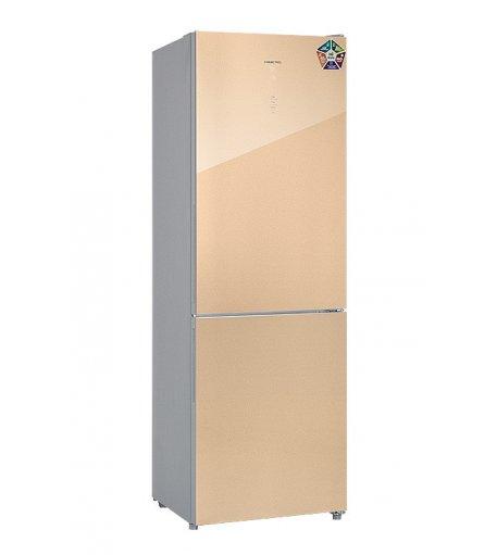Холодильник HIBERG RFC-311DX NFGY, золотистое стекло